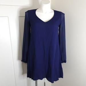 Express Size Medium Blue Mini Dress
